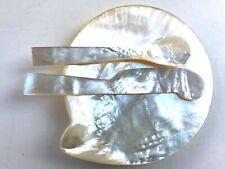 Perlmutt Designer Kaviar-Set, Kaviar-Schale, Löffel und Messer