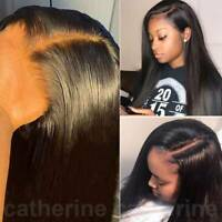Natural Hairline Straight Lace Front Wig Indian Remy Human Hair Full Lace Wigs f