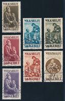SAARGEBIET, MiNr. 128-134, 128-34, mit Falschstempel