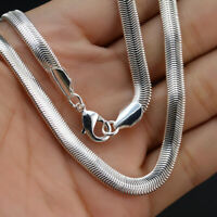 925 Silver 6MM Snake Chain Necklace 16-30inch For Men Women Wedding Jewelry