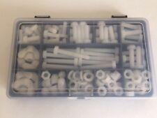 M6 Nylon/Plástico Kit de fijación Nylon pernos, tornillos, tuercas y arandelas 136 piezas