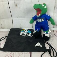 Kansas City Wizards Adidas Cinch Backpack & Plush Mascot Dynamo Alligator Toy