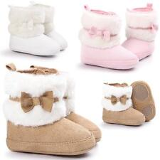 Toddler Baby Girls Kids Snow Boots Winter Warm Soft Sole Crib Shoes Booties MD