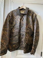 New Mens Filson X Mossy Oak Camo Shelter Cloth Waterfowl/Upland Coat — XL