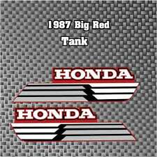 1987 87' honda ATC 250ES Big Red Gas Tank Decals ATV Stickers graphic