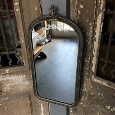Antique Curved Top Art Nuevo Deck Style Mirror Victorian Wood