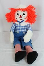 """Vintage 20"""" High Raggedy Andy Fabric Plush Plushie Doll Kids Toy"""