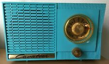 1956 Cavalier Vintage Tube Radio - Model 462 -Blue - MCM - Atomic -Nice!- Works!