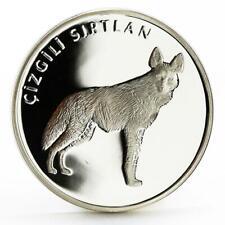 Turkey 20 lira Animal series Striped Hyena proof silver coin 2005