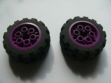 Lego 2 roues violettes set 9732  / 2 purple wheels w/ tires