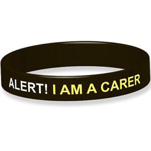 Alert! I Am A Carer Silicone Medical Wristband
