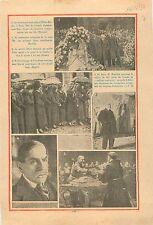 Funérailles Helène Boucher Aviatrice Alain Besnard & Paul  1934 ILLUSTRATION