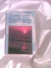 Haitian Proverbs with a Biblical Perspective Haitian book Christian reference