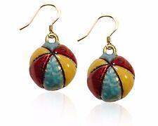 Earrings in Gold Beach Ball Charm