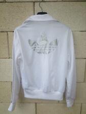 Veste ADIDAS rétro vintage girl femme blanc argenté TREFOIL jacket 38 tracktop