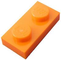 Lego 50x Platte 1x2 orange 3023 Neu Platten Plate Plates