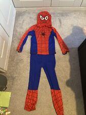 "Kids Spiderman Fancy Dress Outfit Size Large Suit 7-8years Inside Leg 20"""
