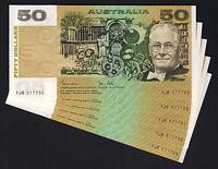 Australia R-508. (1983) 50 Dollars - Johnston/Stone..  aU-UNC - CONSEC Run of 5
