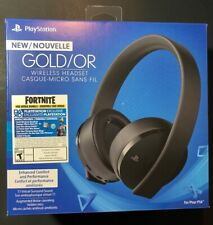 Sony PS4 New Gold Wireless Headset [ BLACK Edition W/ Fortnite Neo Versa ] NEW