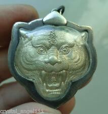 Antiguo templo del Buda monje tailandés Tigre L.p. Tigres cabeza Amuleto Colgante idónea &