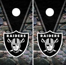 Oakland Raiders Cornhole Wrap NFL Rocks Game Board Skin Set Vinyl Decal CO103