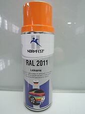 TIEFORANGE ORANGE  RAL 2011 LACK LACKSPRAY SPRAY SPRAYDOSE 400ML (C89)