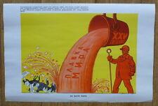 RUSSIAN USSR POSTER COLD WAR SLOGAN PEACE ART CONGRESS COMMUNIST PARTY ARMS RACE