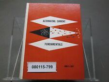 Vintage Hardcover Alternating Current Fundamentals John R Duff 1963 Ed Delmar