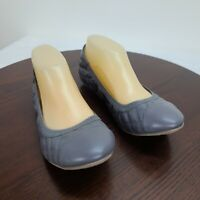 Dexflex Comfort Scrunch Ballet Flat Gray Slip on Womens Size 8.5 NWOT