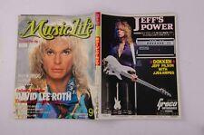 05012 DAVID LEE ROTH BON JOVI BROS PATTI SMITH Cinderella MUSIC LIFE 1988 Mag.