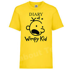 The Diary of a Wimpy Kid T-SHIRT Books Movie Jeff Kinney Inspired WORLD BOOK YLW