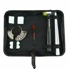 KIT Ring Mandrel Ring Sizer Hammer Polish Cloth Jewelry Making Tools  6 in 1