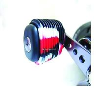 NEW! Reel Grip 1145 Reel Handle Cover, Black and Red Tie Dye Finish