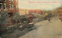 Postcard Washington Street, Looking North in Marion Alabama~128953