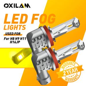 2X H11 H16 H8 LED Fog Driving Lights Bulbs Lamps Kit Golden Yellow 3000K 2700LM