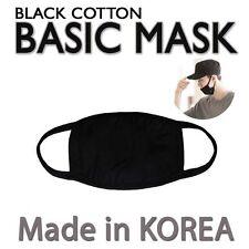 Made in Korea Unisex Kpop Idols 3D Black Cotton Face Mouth Mask BigBang EXO Mask