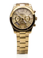 Fossil Watch Women Gold Perfect Boyfriend Multifunction Dial Link Watch ES3884