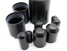 2-10pcs Adhesive Glue Lined 2:1 Heat Shrink End Caps Diameter 10mm-120mm Black