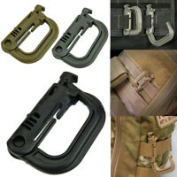 1/2/4/PC Molle Carabiner Tactical Backpack Shackle Snap Hook D-Ring Clip KeyRing