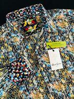 Robert Graham Marne Abstract Long Sleeve Sport Shirt Medium $198