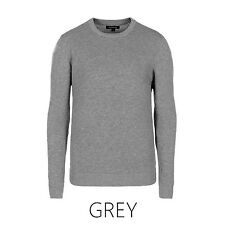 New Mens Plain Wooly Jumper Plain ▍Classic Crew Neck Pullover ▍Knitwear Soft
