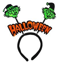 Green Skull Halloween Headband Party Fancy Dress Up Show Accessory Kids Adults