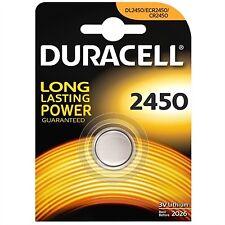 Pila bateria de boton plata original Duracell Cr2450 3V