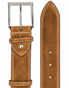 Bontoni Suede Leather Belt IN Braun With Further Quilting/RegEUR300