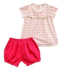 Oshkosh B'gosh Polka Dot Puff Sleeves & Bloomer Set Baby Girl Clothes, 6 months