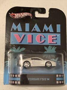 Hot Wheels Retro Miami Vice Ferrari F512 M Don Johnson Hollywood 1:64