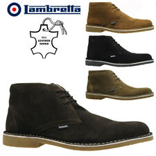 MENS LAMBRETTA LEATHER MILITARY BIKER CHUKKA DESERT COMBAT ANKLE BOOTS SHOES
