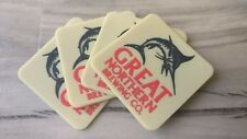 Set of 4 Great Northern rubber Drink Coasters bar mat runner