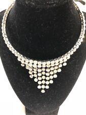 Rhinestone and Silver Elegant Princess/Queen Statement Necklace