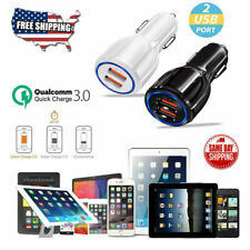 Fast Charging Dual USB 3.1A 12V Car Charger Adapter 3.0 For iPhone Android LG +